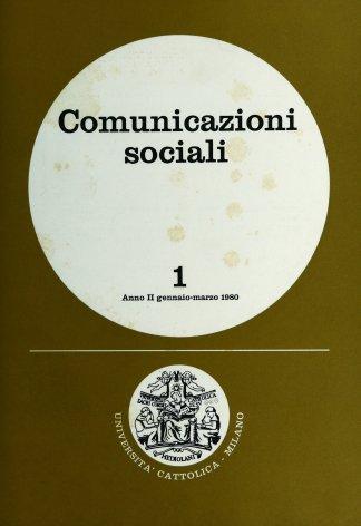 COMUNICAZIONI SOCIALI - 1980 - 1