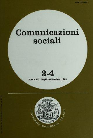 COMUNICAZIONI SOCIALI - 1987 - 3-4
