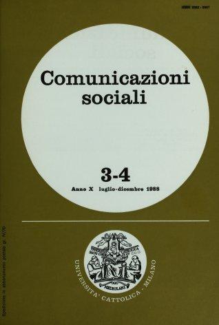 COMUNICAZIONI SOCIALI - 1988 - 3-4. IL CINEMA A MILANO TRA LE DUE GUERRE