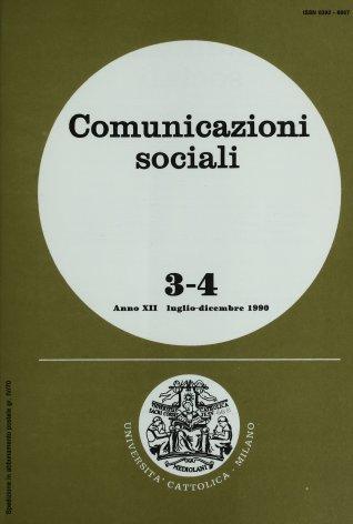 COMUNICAZIONI SOCIALI - 1990 - 3-4. LA COMUNICAZIONE D'AZIENDA NEGLI ANNI NOVANTA