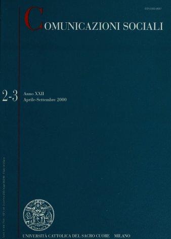 COMUNICAZIONI SOCIALI - 2000 - 2-3. IMMAGINI, VISIONI,EPIFANIE