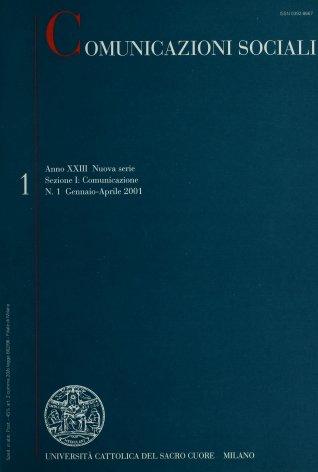 COMUNICAZIONI SOCIALI - 2001 - 1. GLI ANNI DELLE COSE